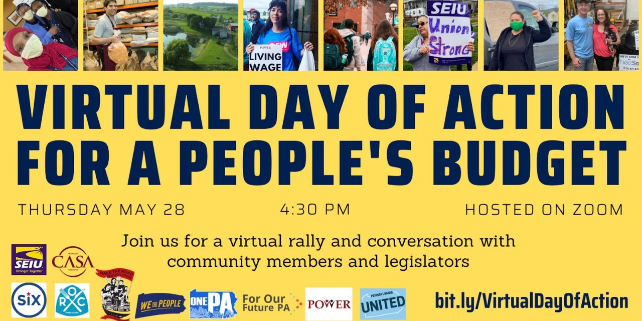 People's Budget VIrtual Event May 28